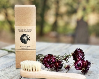 Facial Dry Brush • Cleansing + Exfoliating • Eco Friendly Skin Care Routine