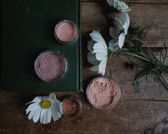 SAMPLE • Matte Blushes  • Loose Powder • Earth Mineral Cosmetics • Vegan + Cruelty Free