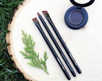 Eye Brow Sculpting Pomade • Botanical Blend • Light + Medium + Dark • Earth Mineral Cosmetics • Vegan + Organic + Gluten Free + Cruelty Free