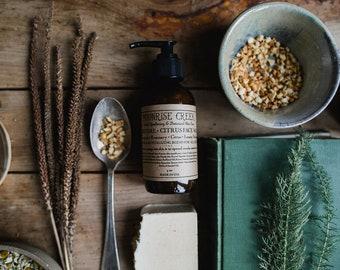 Charcoal + Citrus Face Wash • Lemongrass + Rosemary + Citrus + Lemon Verbena • Detoxifying & Revitalizing blend for all skin types