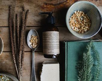 SAMPLE Charcoal + Citrus Face Wash • Lemongrass + Rosemary + Citrus + Lemon Verbena • Detoxifying & Revitalizing blend for all skin types