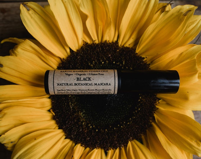 Featured listing image: Natural Mascara • Botanical Blend • Black or Brown • Earth Mineral Cosmetics • Vegan + Organic + Gluten Free + Cruelty Free