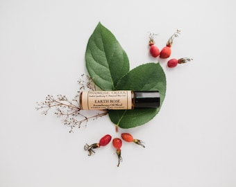 EARTH ROSE • Aromatherapy Roll On Blend • Manifest Love + Peace + Harmony •  Rose + Rosewood + Earthy + Woodsy