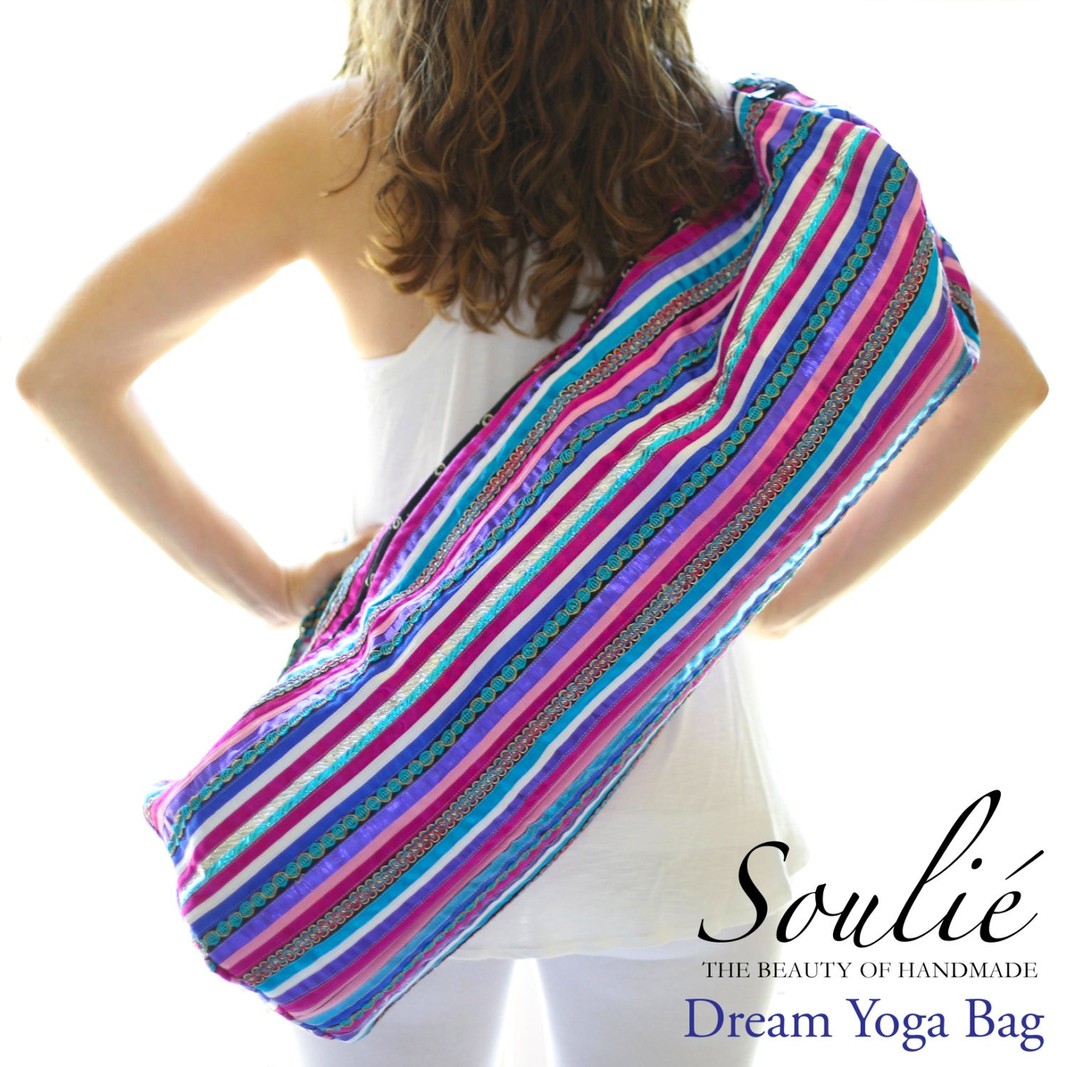 Dream Yoga Mat Bag Hand Appliquéd Ribbon