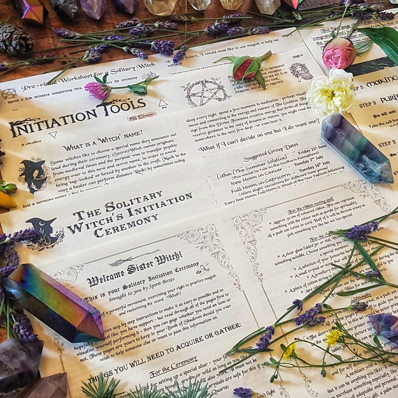 SOLITARY WITCH - An Initiation or Dedication Ceremony Full Guide Step by  Step Book of Shadows tutorial instant digital download only!