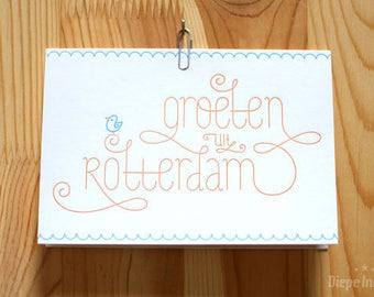 Greetings from Rotterdam Postcard-letterpress