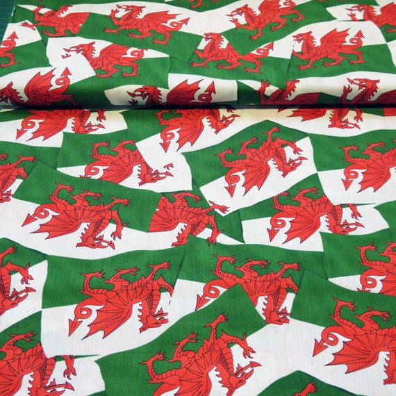 Fat Quarter Wandering Through Wales Welsh 100/% Cotton Quilting Fabric Nutex