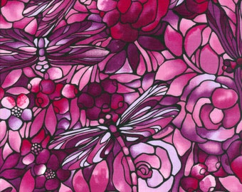 Fabric Freedom 'Reduced Price' F850-1 Twilight Garden Dragonfly Patchwork Quilting