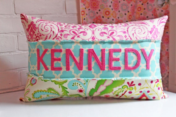 Name Pillow For Girl Girly Pink Colorful Feminine Kumari Etsy Interesting Girly Decorative Pillows