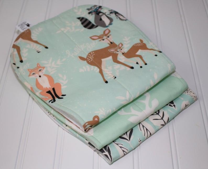 Woodland burp cloths Deer Burp Cloth Buck Burp Cloth image 0