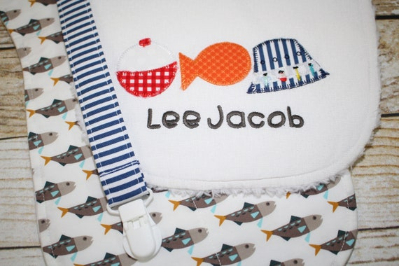 Baby Boy Bib//Burp Cloth Gift Set//Create Your Own //Hello Bear//Baby Shower Gift