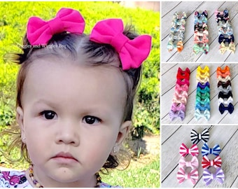 Personalised bows Girls baby headbands or clip. Name bows Large no tail hair accesories