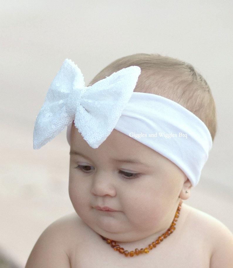 22e96758c4e513 Stirnband Für Babys Chamapgner Haarschmuck