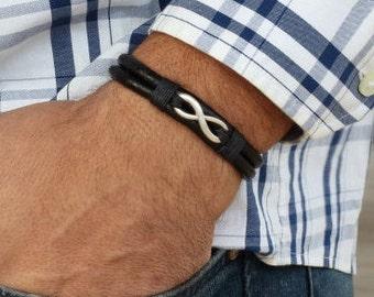 Men's Bracelet - Men's Infinity Bracelet - Men's Vegan Bracelet - Men's Jewelry - Men's Gift - Husband Gift - Present For Men - Boyfriend