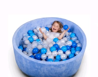 100x40cm  39.4x15.7 Baby Round Ball Pit Toddler Ball Pit Foam Ball 80x40cm  31.5x15.7 Light pink Dry pool ball pit with 200 balls