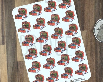 Packing Stickers; Hand Drawn Stickers; Suitcase; Travel; Holiday Planning; Planner Stickers; Erin Condren Compatible; Happy Planner