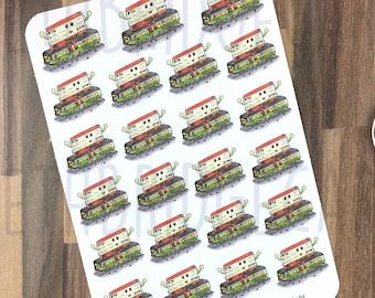 Train Journey Stickers; Hand Drawn Stickers; Train Ticket; Travel; Holiday Planning; Planner Stickers; Erin Condren Compatible;Happy Planner