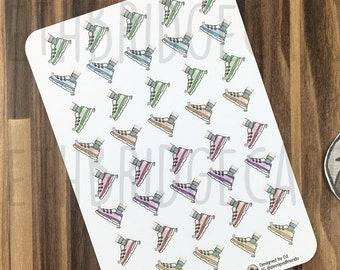 Trainer Stickers; Hand Drawn Stickers; Running; Walking; Hiking; Fitness Planning; Planner Stickers; Erin Condren Compatible; Happy Planner
