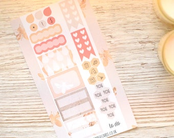 Peachy Bees Personal Planner Kit; Weekly Kit; TN Kit; Planner Stickers; Bullet Journal; Filofax; Mini Kit; Bee Stickers; Spring Weekly Kit