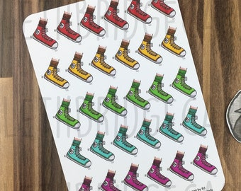Sneaker Stickers; Hand Drawn Stickers; Running; Sports; Trainer; Fitness Planning; Planner Stickers; Erin Condren Compatible; Happy Planner