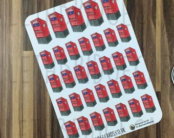 Canadian Letterbox Stickers; Hand Drawn Stickers; Post Box; Post Orders; Happy Mail; Planner Stickers; Erin Condren Sized; Happy Planner