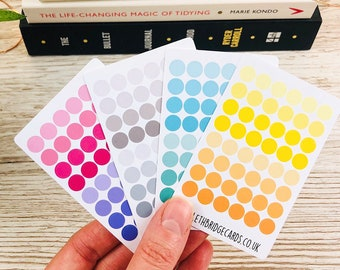 Dot Stickers; Hobonichi Stickers; Shape stickers; Planner stickers; Pastel Stickers; Bullet journal stickers