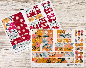 Simple Hobonichi Cousin Weekly Kit - Summer; Hobonichi Monthly Sticker Kit; Hobonichi Cousin; Hobonichi Stickers; Summer Kit; Hobonichi Deco