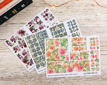 Simple Hobonichi Cousin Weekly Kit - Spring; Hobonichi Monthly Sticker Kit; Hobonichi Cousin; Hobonichi Stickers; Spring Kit; Hobonichi Deco