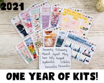 Hobonichi A6 Techo Original Year of Monthly Kits; Hobonich A6 Kits; Full year of kits; Monthly Kit; Summer kit; Hobonichi Stickers