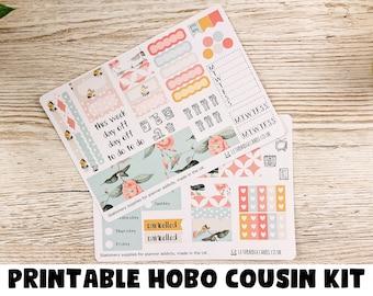 PRINTABLE Hummingbirds Hobonichi Cousin Weekly; Summer Kit; Weekly Sticker Kit; Hobonichi Techo Sticker; Hobonichi Stickers; Printable Kit
