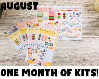 August Hobonichi Sticker Kit; Hobonichi Weeks Kits Hobonich Cousin Kits; Monthly Kit; Weeks Sticker; Hobonichi Weekly Kit