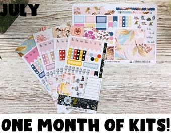 July Hobonichi Sticker Kit; Hobonichi Weeks Kits Hobonich Cousin Kits; Monthly Kit; Weeks Sticker; Hobonichi Weekly Kit