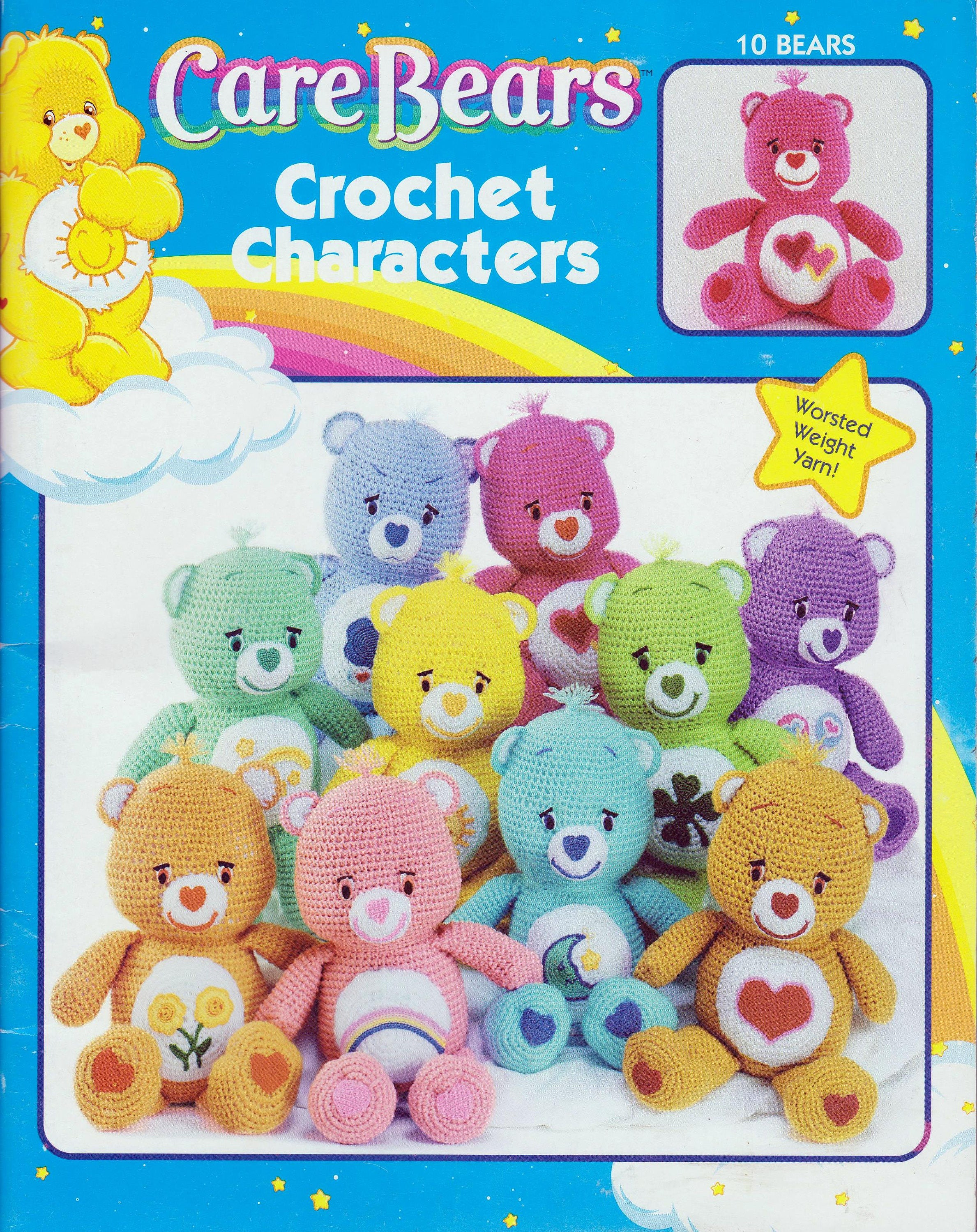 Care Bears Crochet Characters Craft Patterns Instruction Book 10 ...