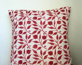 William Morris **ROSEHIP**  Linen  Cushion Cover 40cm