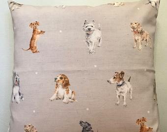 Wrendale Designs **DOGS**   Cotton Blend  Cushion Cover 40cm