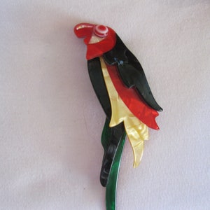 Little Parrot Pin By French Designer Lea Stein