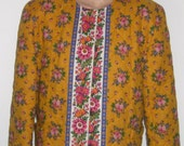 Vintage VERA BRADLEY Retired Very Hard To Find quot Marigold quot Print Quilted Medium Jacket-Fully Lined 2 Front Pockets