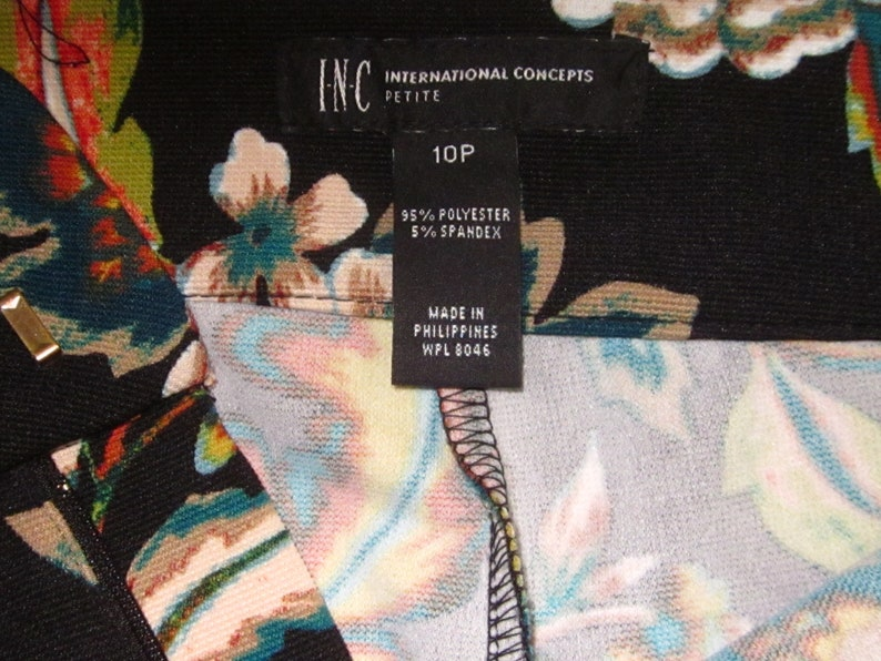 Size 10P Vintage MOD 70/'s Black Green /& Rust Floral Polyester Bell Bottom PantsElephant Bells-Retro Hippie Slacks