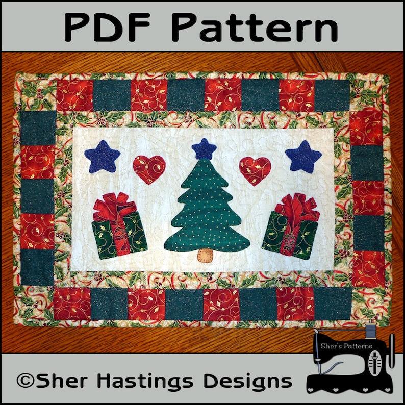 Pdf Pattern For Christmas Tree Table Runner Christmas Table Etsy
