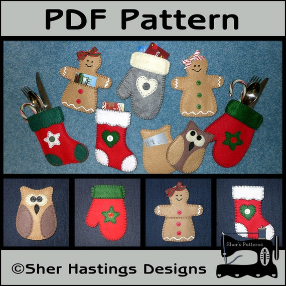 PDF Pattern For Gift Card Holders Christmas Gift Card