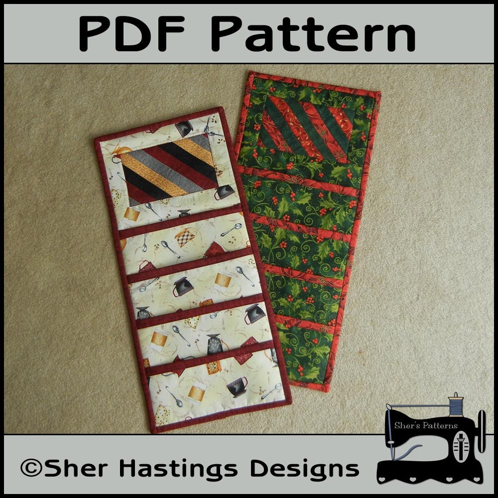 PDF Pattern for Christmas Card Holder Pocket Wall Hanging | Etsy