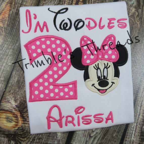 Twodles Birthday Shirt Minnie Mouse 2nd