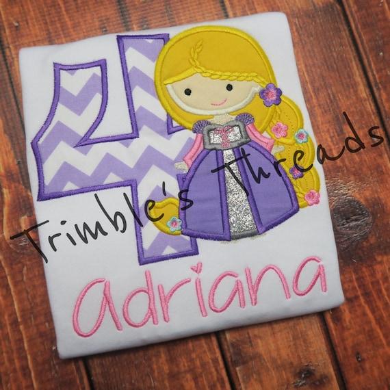 Personalized Rapunzel Birthday Shirt 1 9