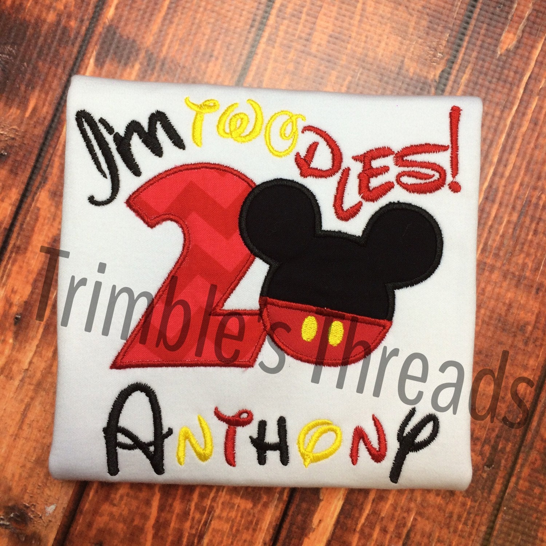 Mickey Mouse Birthday Shirt / Mickey Number Birthday Shirt ...