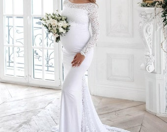 626a96b001ce7 Maternity dress, Weddig dress,Baby shower dress, maternity dress for  photoshoot, bridal dress,romantic maternity dress