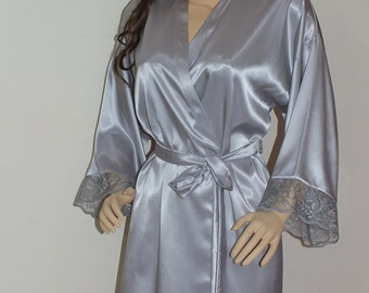 31a4409ba47 Chiffon long robe16 colors Bridal robe getting ready robe