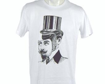 Mister face-off t-shirt. hand printed t-shirt. Men's T Shirt man Tee graphic tee Organic cotton T-shirt mens tee Men's tee