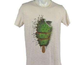 Cactus icecream t-shirt. Men's T Shirt cactus Tee graphic tee Organic cotton T-shirt mens tee Men's tee