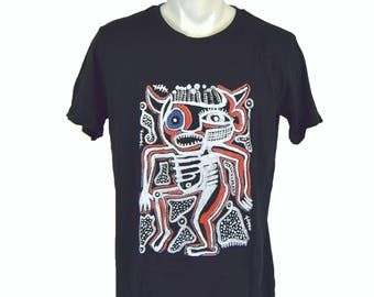 Dancer black t-shirt. hand printed t-shirt. Men's T Shirt cow Tee graphic tee Organic cotton T-shirt mens tee Men's tee