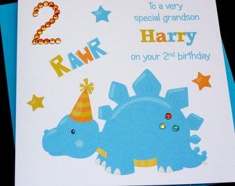 Personalised Boys Knight Birthday Card Son Grandson 3rd 4th 5th 6th 7th 8th 9th